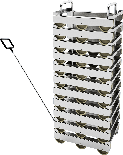 стойка для штабелирования тележек
