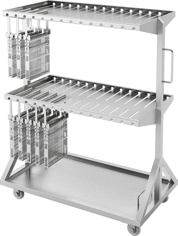 установка транспортировки корзин с инструментом