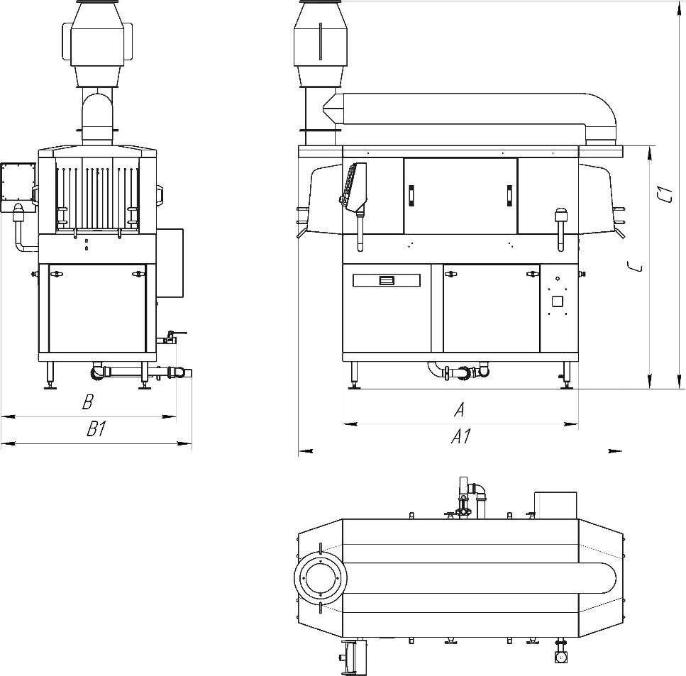 Машины ТЕС/ТSC с активной вытяжкой